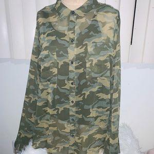 Militar print blouse